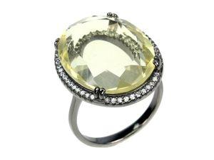 Крупное серебряное кольцо с цитрином, размер 17,5. Ярмарка Мастеров - ручная работа, handmade.