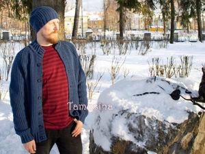 В магазине новинка: мужской кардиган и шапка!. Ярмарка Мастеров - ручная работа, handmade.
