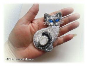 Кошка-брошка: вышиваем бисером голубоглазую сиамскую красавицу. Ярмарка Мастеров - ручная работа, handmade.