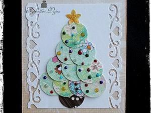 Новогодняя открытка за 5 минут. Ярмарка Мастеров - ручная работа, handmade.