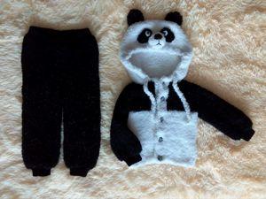 Вяжем вместе плюшевый костюм «ПАНДА». Ярмарка Мастеров - ручная работа, handmade.