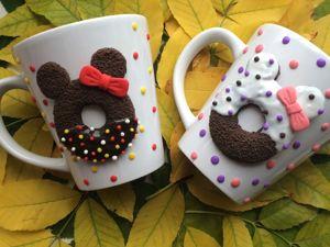 Декор кружки. Пончики из полимерной глины. Ярмарка Мастеров - ручная работа, handmade.