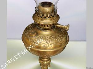 Лампа керосиновая латунь L&amp&#x3B;B Бельгия 73см 8. Ярмарка Мастеров - ручная работа, handmade.