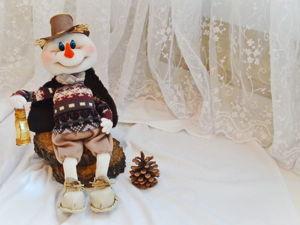 Видео мастер-класс: шьем снеговенка с фонариком. Ярмарка Мастеров - ручная работа, handmade.