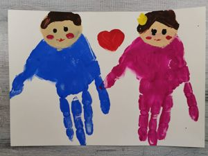 Как нарисовать ладошками папу и маму. Ярмарка Мастеров - ручная работа, handmade.