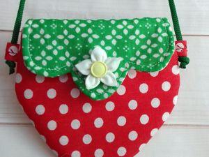Шьем сумочку-клубничку для девочки. Ярмарка Мастеров - ручная работа, handmade.