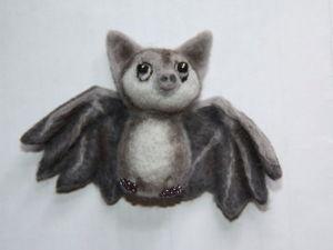 Валяем летучую мышь: мастер-класс. Ярмарка Мастеров - ручная работа, handmade.