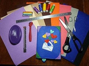 Создаем обложку для блокнота из фетра и капельки фантазии. Ярмарка Мастеров - ручная работа, handmade.