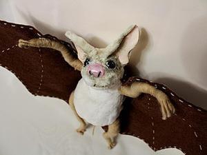 Делаем забавного летучего мышонка. Ярмарка Мастеров - ручная работа, handmade.