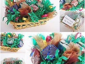 Делаем новогодний букет из конфет. Ярмарка Мастеров - ручная работа, handmade.