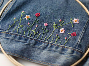 50 Diverse Ideas of Denim Jackets Decor. Livemaster - handmade
