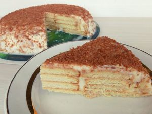 Торт без выпечки с творожным кремом. Ярмарка Мастеров - ручная работа, handmade.