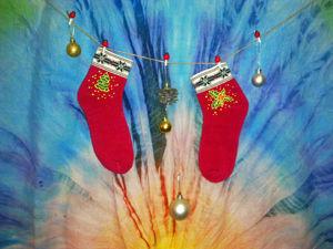Создаем милые новогодние носочки за час. Ярмарка Мастеров - ручная работа, handmade.
