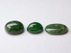 Гранаты зеленые 3 лота натуральные. Ярмарка Мастеров - ручная работа, handmade.