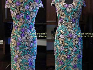 Платье Мятный вкус ирландским кружевом. Ярмарка Мастеров - ручная работа, handmade.