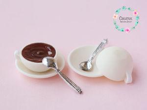 Лепим из полимерной глины миниатюрную чайную пару. Ярмарка Мастеров - ручная работа, handmade.