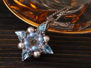 Делаем стильный кулон с кристаллами Swarovski своими руками. Ярмарка Мастеров - ручная работа, handmade.