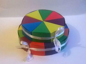 Мастерим коробочку «Кусочек торта». Ярмарка Мастеров - ручная работа, handmade.
