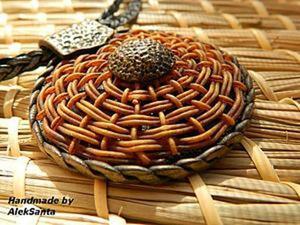 Круговое плетение из полимерной глины. Ярмарка Мастеров - ручная работа, handmade.