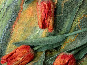 Делаем почти настоящие тюльпаны из войлока. Ярмарка Мастеров - ручная работа, handmade.