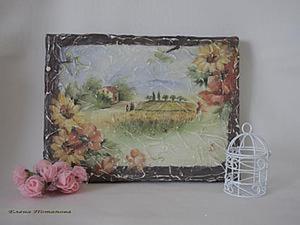 Имитируем фреску: создаем панно на холсте. Ярмарка Мастеров - ручная работа, handmade.