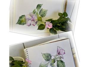 Видео мастер-класс: как нарисовать цветок с натуры двумя способами. Ярмарка Мастеров - ручная работа, handmade.