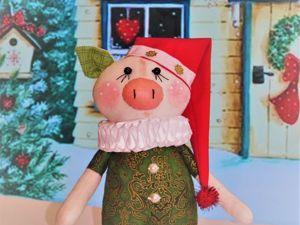 Видеоурок: шьем новогоднего поросенка. Ярмарка Мастеров - ручная работа, handmade.