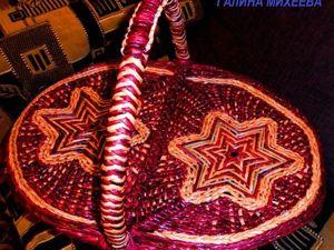 Плетём корзину для пикника. Часть 2: крышка. Ярмарка Мастеров - ручная работа, handmade.