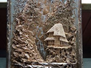Делаем барельеф «Водопад». Ярмарка Мастеров - ручная работа, handmade.
