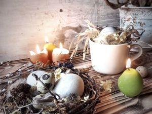 Идеи стильного пасхального декора из простых материалов. Свечи и ваза в форме яйца DIY. Ярмарка Мастеров - ручная работа, handmade.
