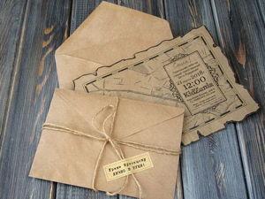 Как сделать приглашения из крафт-бумаги в стиле старинной пиратской карты. Ярмарка Мастеров - ручная работа, handmade.