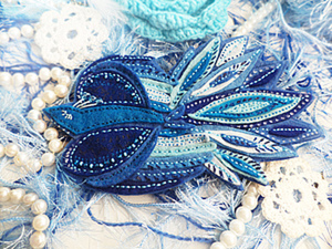 Синяя птица счастья (брошь из фетра). Ярмарка Мастеров - ручная работа, handmade.