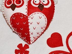 Забавные совы-неразлучницы из фетра. Ярмарка Мастеров - ручная работа, handmade.