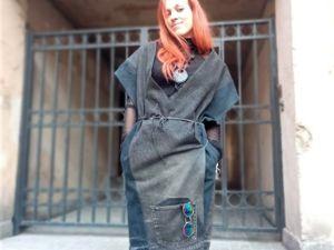 Шьем платье-халат из джинсов. Ярмарка Мастеров - ручная работа, handmade.