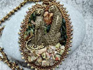 Колье-кулон  «Леопарды». Процесс создания. Ярмарка Мастеров - ручная работа, handmade.