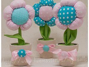 Как сделать цветок-топиарий из ткани в детскую комнату. Ярмарка Мастеров - ручная работа, handmade.