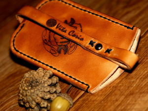 Изготавливаем ключницу из кожи. Ярмарка Мастеров - ручная работа, handmade.