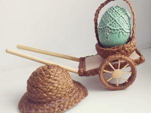 Пасхальные идеи — декор из джута/шпагата. Ярмарка Мастеров - ручная работа, handmade.