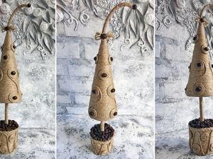 Делаем новогоднюю елку из джута. Ярмарка Мастеров - ручная работа, handmade.