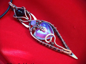 Делаем подвеску «Сердце луны» из медной проволоки и лунного камня. Ярмарка Мастеров - ручная работа, handmade.