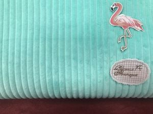 Наши новинки: Плюш Minky Stripes полоски ментол. Ярмарка Мастеров - ручная работа, handmade.