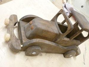 Машинка из дерева своими руками. Ярмарка Мастеров - ручная работа, handmade.