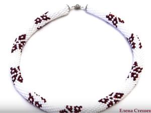 Мастер-класс. Вязание бисером. Вязание жгута столбиком без накида. Ярмарка Мастеров - ручная работа, handmade.