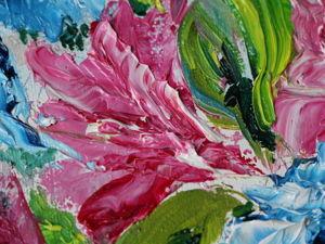 Картина маслом Горные цветы. Ярмарка Мастеров - ручная работа, handmade.