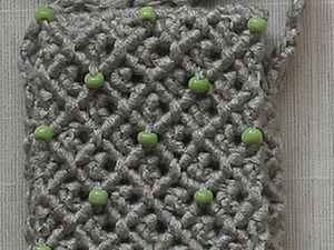 Плетем сумочку для мобильного телефона (продолжение). Ярмарка Мастеров - ручная работа, handmade.