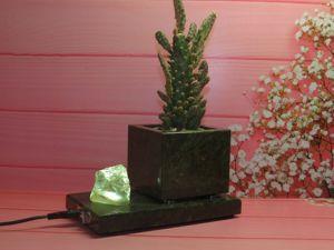 Композиция из камней с подсветкой. Ярмарка Мастеров - ручная работа, handmade.