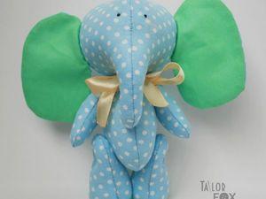 Шьем милого маленького слоненка. Ярмарка Мастеров - ручная работа, handmade.