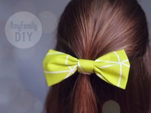 How to Make Bow from Piece of Fabric and Attach it to Elastic. Livemaster - handmade