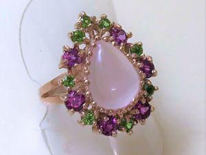 Видеоролик: Кольцо с крупным натуральным розовым кварцем  «Розовая капля». Ярмарка Мастеров - ручная работа, handmade.