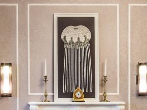 """Создаем текстильное панно """"Медуза"""". Ярмарка Мастеров - ручная работа, handmade."""